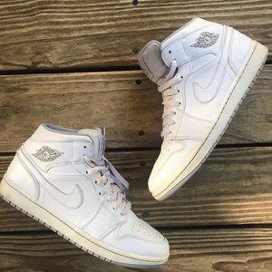 Nike air Jordan 1 white natural grey 10